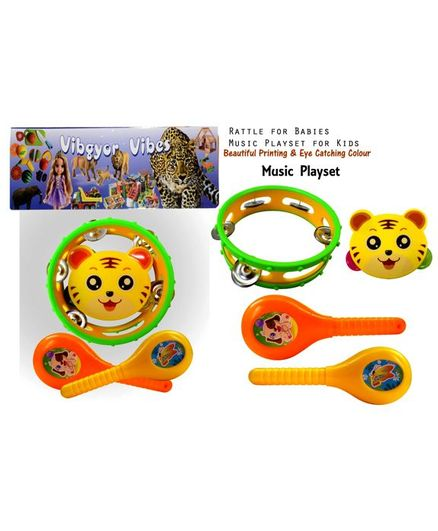 Vibgyor Vibes Rattle Playset Pack of 4 - Multicolour