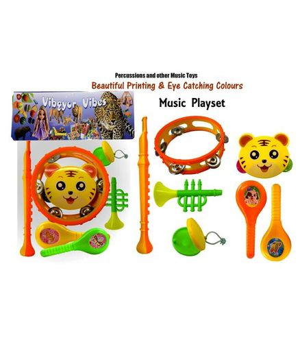 Vibgyor Vibes Musical Rattle Playset Pack of 7 - Multicolour