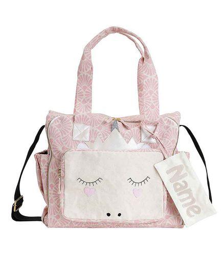 Mi Dulce Anya Organic Diaper Bag Unicorn Face Pink Online in India ... c57f036c4b338