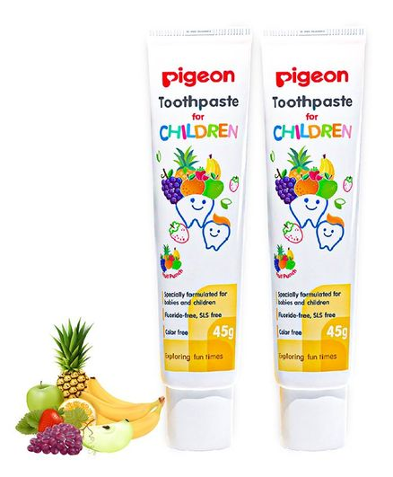 Pigeon Children Toothpaste Fruit Punch Pack Of 2 - 45 gm