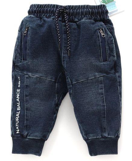 Fox Baby Denim Lounge Pant - Dark Blue