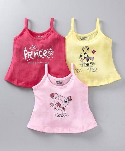 DoremeSleeveless Slips & Bralettes Girl Combo 2 6-9 M