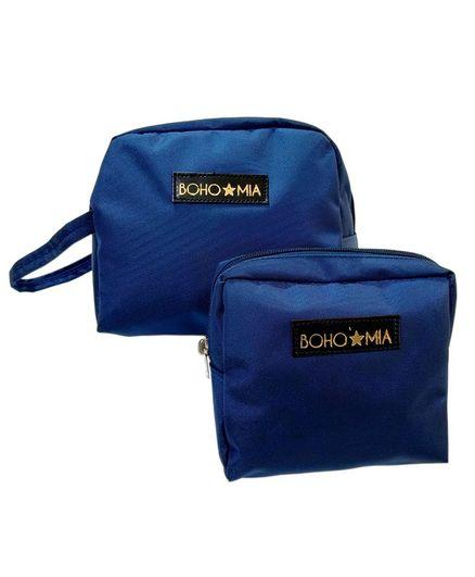 Bohomia Toiletry Set of 2 Pouches Travelling kit - Blue