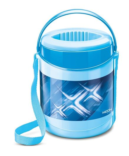 Milton Vector Deluxe 3 Insulated Lunch Box With 3 Containers - Blue