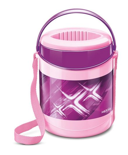 Milton Vector Deluxe 3 Insulated Lunch Box With 3 Containers - Pink
