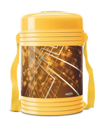 Milton New Design Insulated Lunch Box With 4 Leak Lock Containers 200 ml Each - Yellow