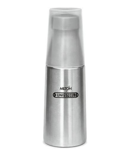 Milton Thermosteel Bottle With Tumbler Glass Silver - 720 ml