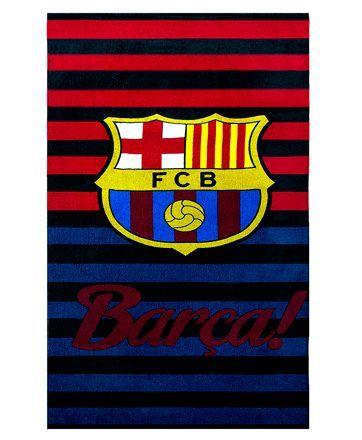 Sassoon FC Barcelona Bath Towel - Red & Blue