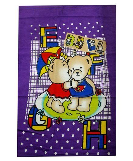 Sassoon Bath Towel Bear Print - Multicolor