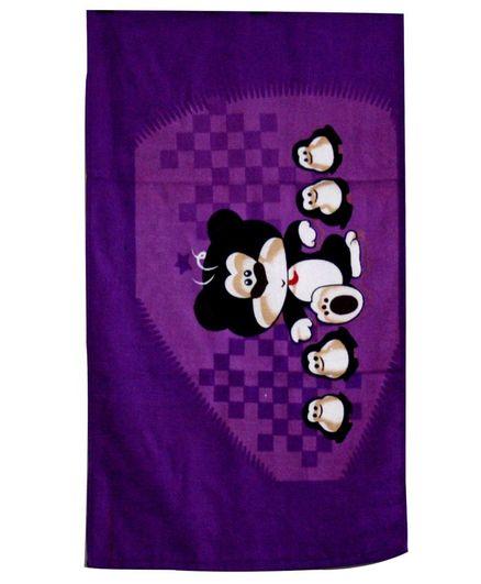 Sassoon Bath Towel Animal Print - Purple