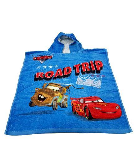 Sassoon Disney Pixar Cars Bath Poncho - Blue