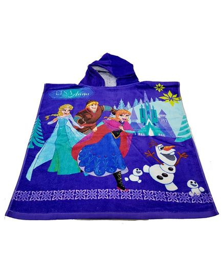 Sassoon Disney Frozen Bath Poncho - Purple