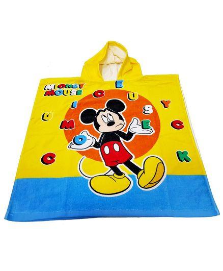Sassoon Disney Mickey Printed Poncho -Yellow