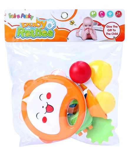 Colourful Baby Rattle Set of 6 - Multicolour