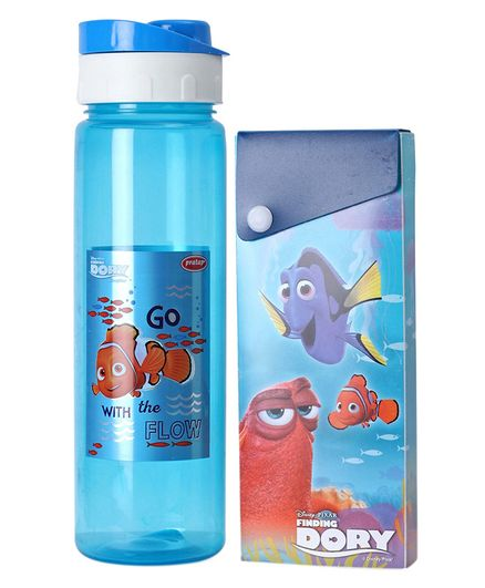 Disney Finding Dory Print Water Bottle With Pencil Box - Blue