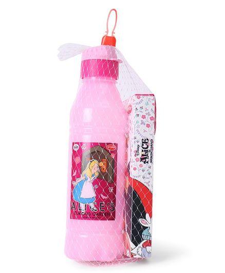 Disney Alice Water Bottle & Pencil Box Combo Pink - 800 ml