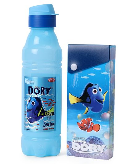 Disney Finding Dory Water Bottle & Pencil Box Combo Blue - 800 ml