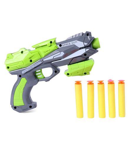 Soft Bullet Gun With Darts - Green