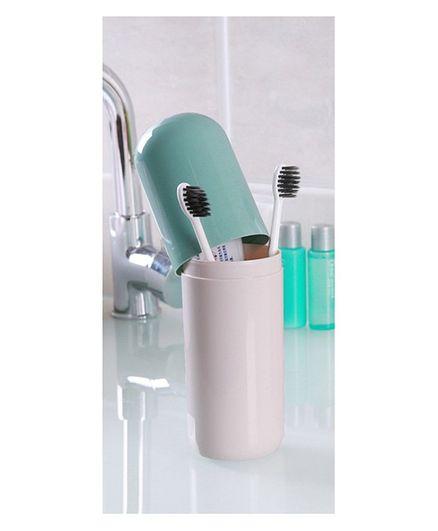 Syga Capsule Shaped Toothbrush Holder - Blue