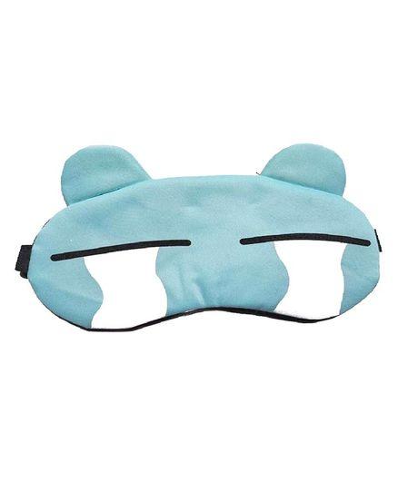 Syga Bird Print Gel Ice Sleep Adjustable Eye Mask - Blue