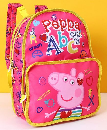 1ab252cf7609 Peppa Pig School Bag Pink Height 16 inches Online in India