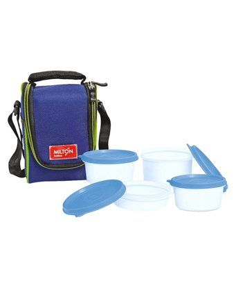Milton Full Meal 4 Containers Lunch Box Set - Blue