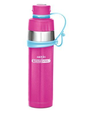 Milton Gist Thermosteel Vaccum Insulated Water Bottle Pink - 480 ml