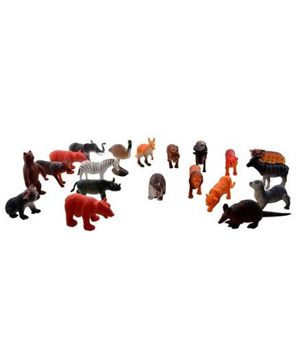 Vibgyor Vibes Wild Animals Toys Pack of 20 - Multicolour