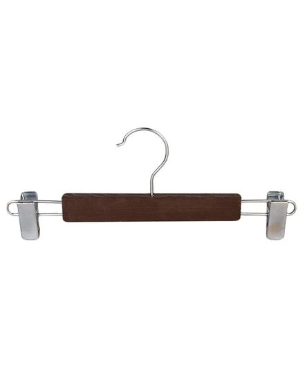 Forever Wooden Hanger With Adjustable Clips Pack of 5 - Brown