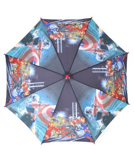 John's Umbrellas Avengers Print - Dark Blue