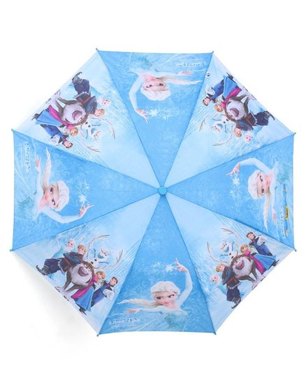 Johns Umbrellas With Whistle Frozen Princess Print - Blue