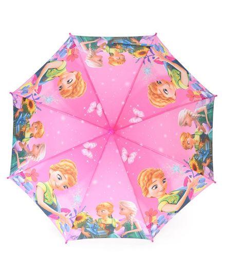 John's Umbrellas Frozen Princess Print - Pink