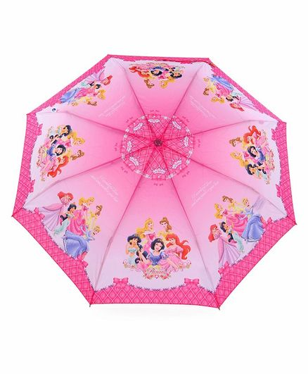John's Umbrellas With Whistle Disney Princess Print - Pink