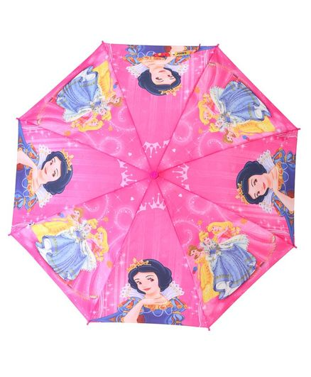 Johns Umbrellas With Whistle Disney Princess Print - Pink