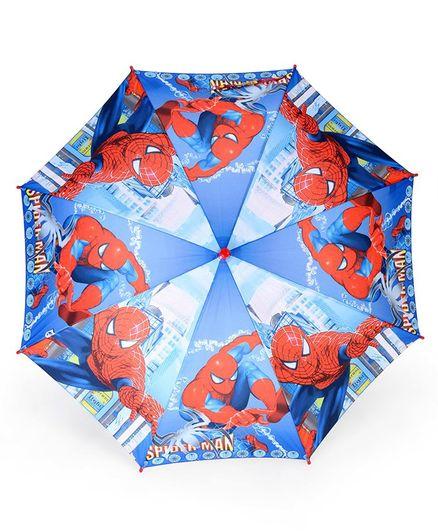 John's Umbrellas Spiderman Print - Blue Red