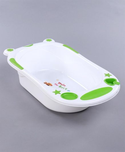 Babyhug Bath Tub (Print May Vary) - White Green