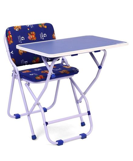 Mothertouch Study Table & Chair Bear Print - Blue
