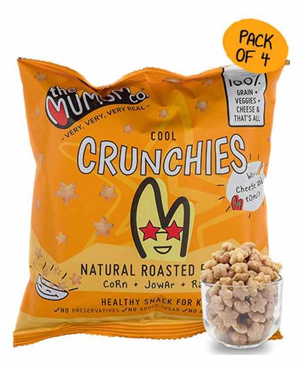 The Mumum Co. Cheese Tomato Crunchies Pack of 4 Pouches - 20 gm