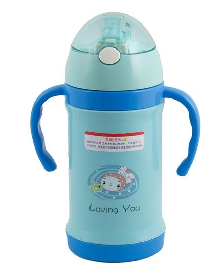 Kidofash Printed Stainless Steel Sipper Water Bottle - Blue
