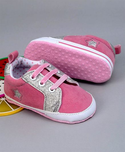 Cute Walk by Babyhug Shoes Style Booties - Pink