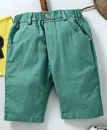 Leekar kids Elasticated Waist Shorts - Green
