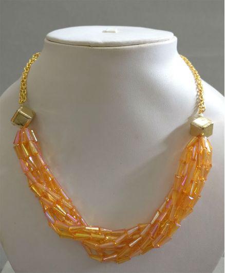 Tiny Closet Bunch Necklace - Orange