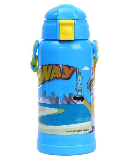 Minions Insulated Sipper Water Bottle Blue - 350 ml