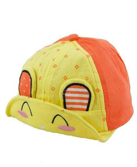 Kidofash Bunny Face Design Cap - Light Yellow
