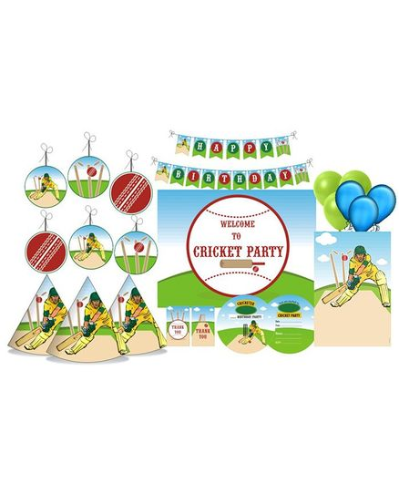 Prettyurparty Cricket Themed Party Decorations Set - Green