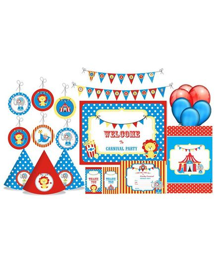 Prettyurparty Carnival Themed Party Decorations Set - Blue