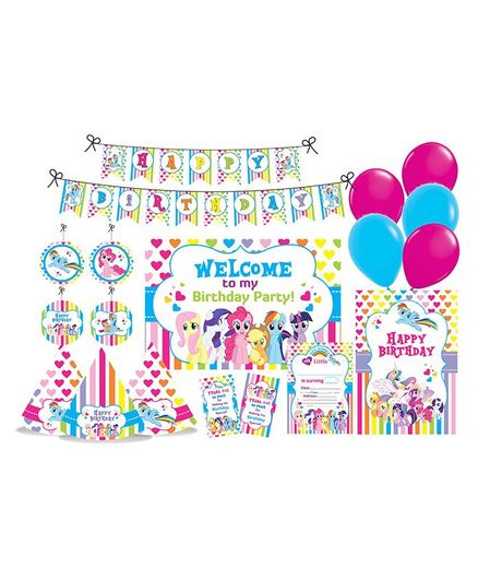Prettyurparty My Little Pony Themed Party Decorations Set - Blue