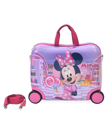 Disney Minnie Mouse Kids Trolley With Belt Purple - 16 Inches