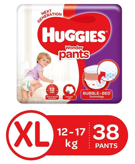 Huggies Wonder Pants Extra Large Size Pant Style Diapers - 38 Pieces