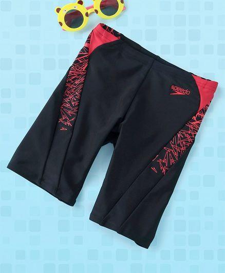 Speedo Swimming Trunks - Black Red
